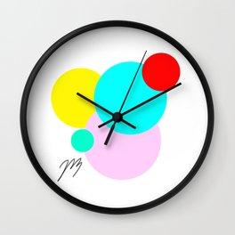 Color Bubbles 1 Wall Clock