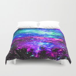 Fox Fur Nebula Galaxy Pink Purple Blue Duvet Cover