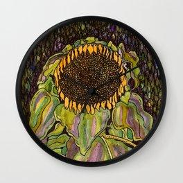 Klimt Sunflower Wall Clock