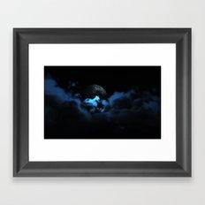 Cloudy Moon Framed Art Print