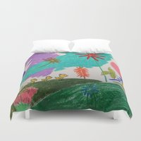ducks Duvet Covers featuring ducks by SketchMaster