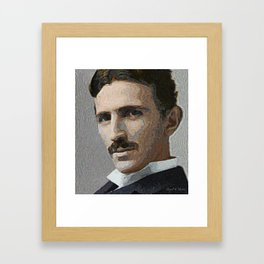 Nikola Tesla portrait Framed Art Print
