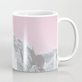 Mojave Pink Sky // Red Rock Canyon Las Vegas Desert Landscape Snowstorm Moon Mountains Coffee Mug