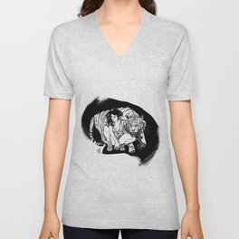 Tyger! Tyger! Burning bright Unisex V-Neck