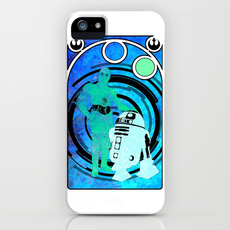 C3P0 and R2D2 iPhone Case