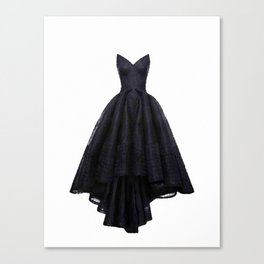little black dress fashion illustration Canvas Print