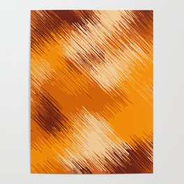 brown orange and dark brown abstract background Poster