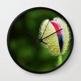 Poppy Bud Wall Clock