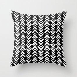 tribal arrows black and white Throw Pillow