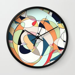 Modern Colorful Abstract Line Art Design  Wall Clock