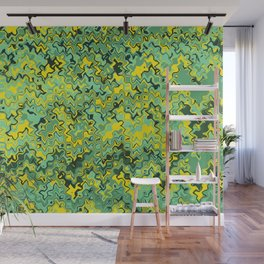 Marble green yellow gaphic design Wall Mural