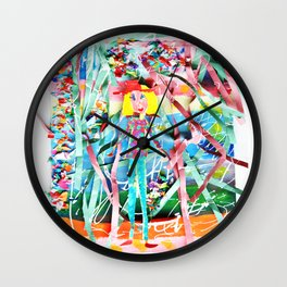 Spring Party Wall Clock