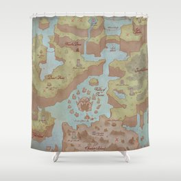 Super Mario World Map (Vintage Style) Shower Curtain