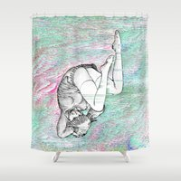 anarchy Shower Curtains featuring Anarchy Ai by Coolthulhu
