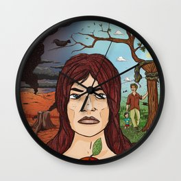 The Garden of Eden Wall Clock