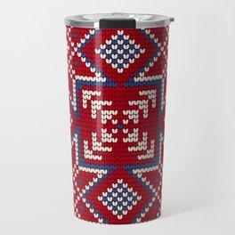 Pattern in Grandma Style #35 Travel Mug
