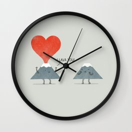 I Lava You Wall Clock