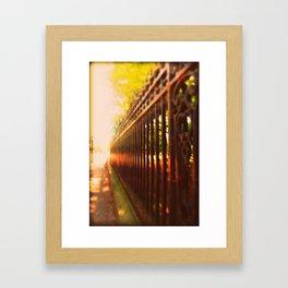 Iron Fence Framed Art Print