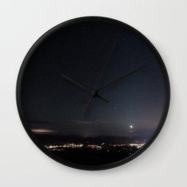 Arizona Desert Night Sky Stars Wall Clock