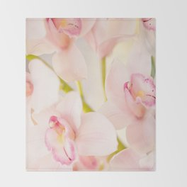 Orchid Flower Bouquet On A Light Background #decor #society6 #homedecor Throw Blanket