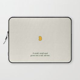 A small, small seed grows into a tall, tall tree. Laptop Sleeve