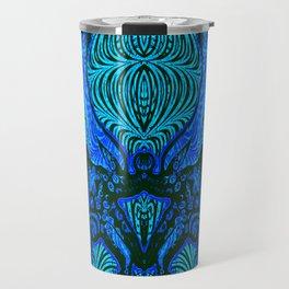 OctoSpeculum #4 - Psychedelic Octopus Fractal Optical Illusion Vibrant Design Travel Mug
