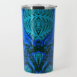 OctoSpeculum #4 - Psychedelic Octopus Fractal Optical Illusion Vibrant Design Travel Mug