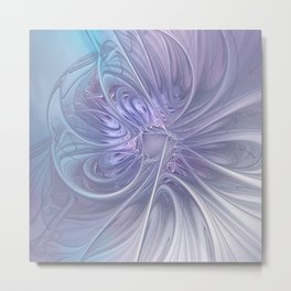 elegant flames on texture Metal Print