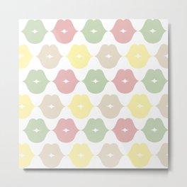 Green pink brown and yellow Metal Print