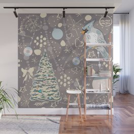 Christmas Bird Wall Mural