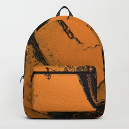 Dirty Acrylic Pour Painting 07, Fluid Art Reproduction Abstract Artwork Backpack