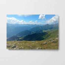 panorama on adventure park hög alps serfaus fiss ladis tyrol austria europe Metal Print