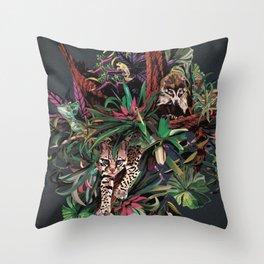Rainforest corner Throw Pillow