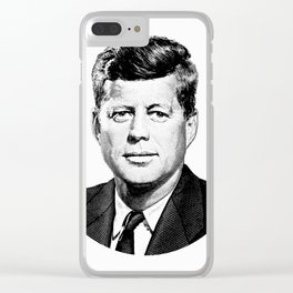 President John F. Kennedy Graphic Clear iPhone Case