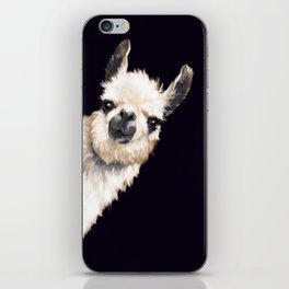 Sneaky Llama in Black iPhone Skin