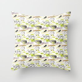 abducted cow pattern Throw Pillow