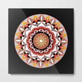 My Solar Plexus Mandhala   Secret Geometry   Energy Symbols Metal Print