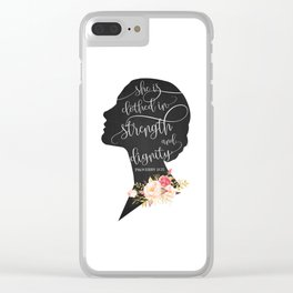 She is Clothed in Strength and Dignity Clear iPhone Case