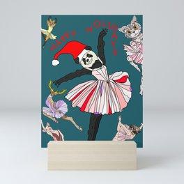 Hipster Holiday Ballerinas Mini Art Print