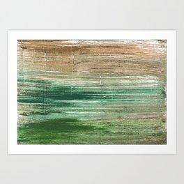 Artichoke abstract watercolor Art Print