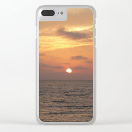 Sunset on Long Key 1 Clear iPhone Case