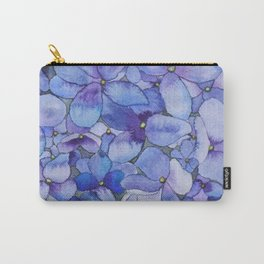 Watercolour Hydrangea Carry-All Pouch