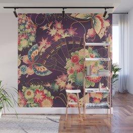 Hyakka Ryoran Kimono Inspired Wall Mural