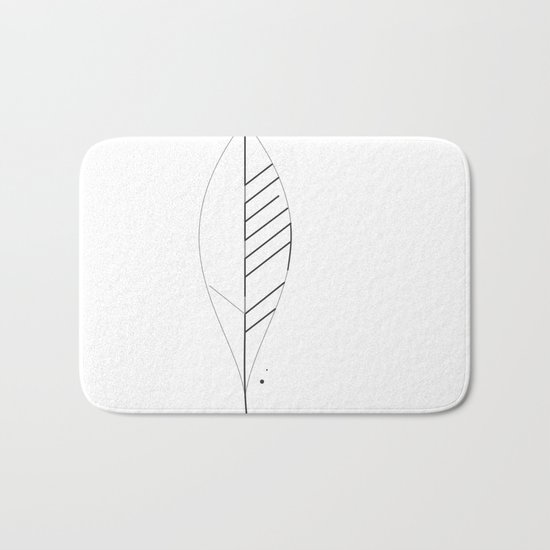 Leaf Minimal Typo Bath Mat