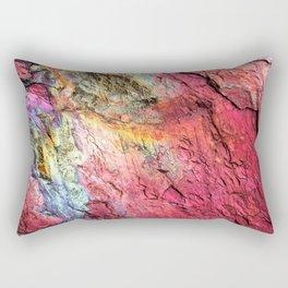 Colorful Nature : Texture Rainbow Magenta Rectangular Pillow