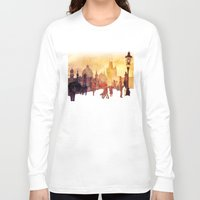 takmaj Long Sleeve T-shirts featuring Charles Bridge by takmaj