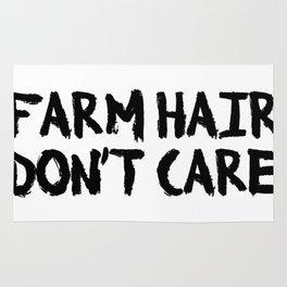 Farm Hair Don't Care Farming Farmer Rug