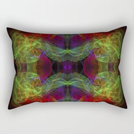 Abstract and symmetrical texture in the form of colorful smoke clouds. Rectangular Pillow
