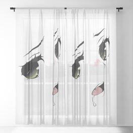 Ahegao Eyes Sheer Curtain
