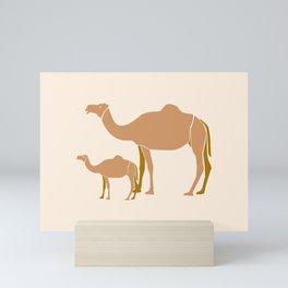 Camel Mother #draw #society6 #animal Mini Art Print